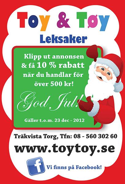 Grafisk form annonser till tidningar Toy & Töy leksaker