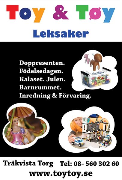 Grafisk form skyltar Toy & Töy leksaker