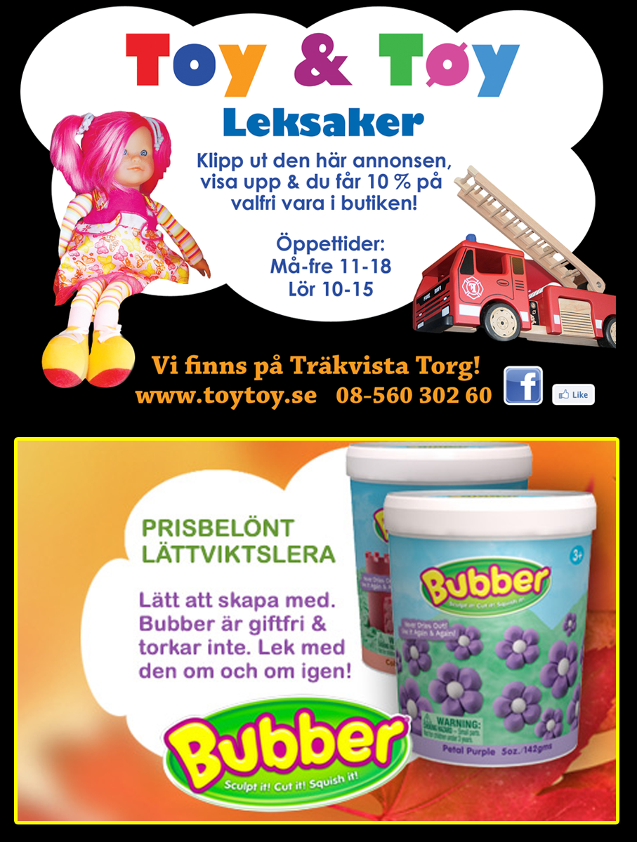 Grafisk form annonser och banners Toy & Töy leksaker