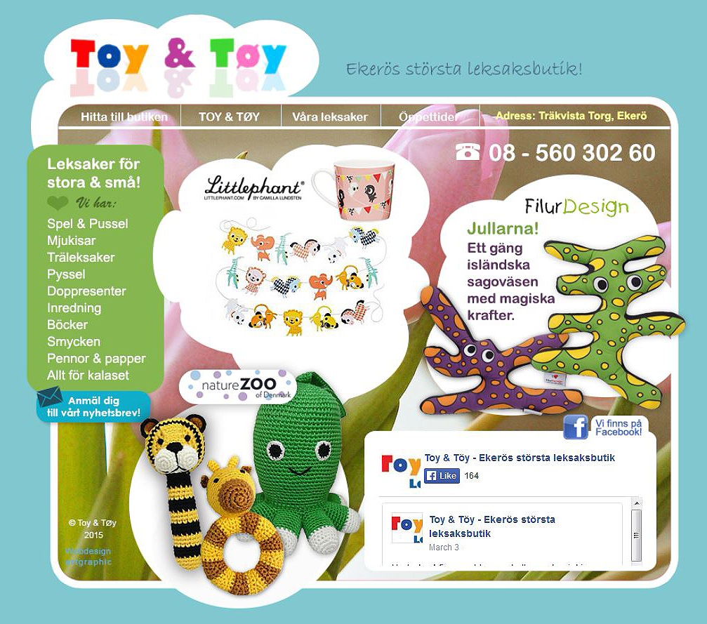 webbdesign och uppdateringar hemsida Toy & Töy leksaker
