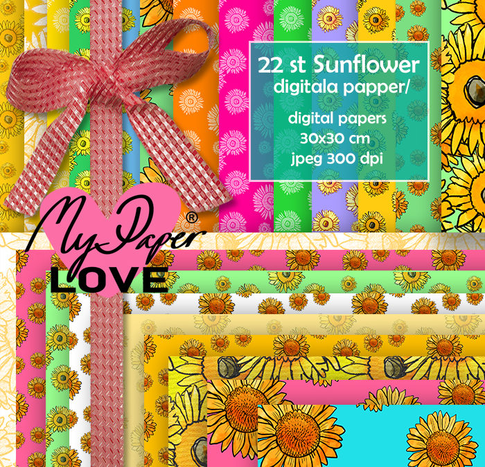 Digitala pappaer solrosor My Paper Love