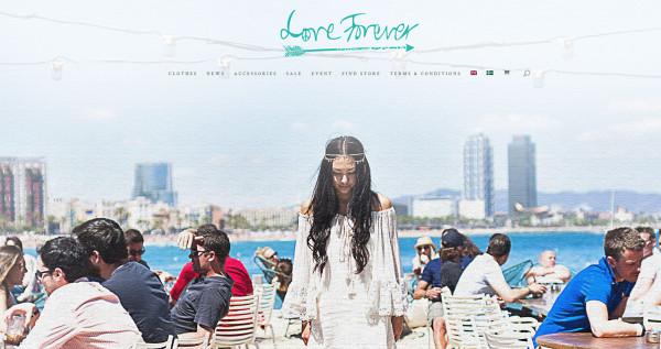 Ny sida & webbshop för Love Forever